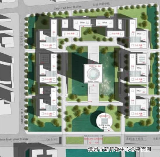 漳州市新行政中心总平面图